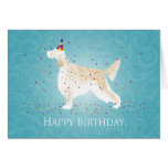 English Setter Happy Birthday Design Greeting Card