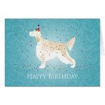 English Setter Happy Birthday Design Greeting Card