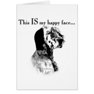 English Setter Happy Face Card