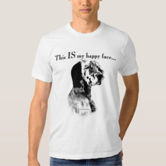 English Setter Happy Face Tee Shirt
