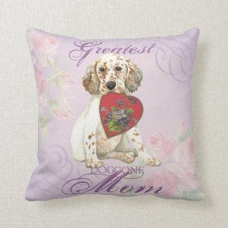 English Setter Heart Mom Cushion