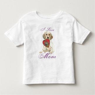 English Setter Heart Mom Tshirt