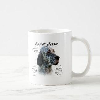 English Setter History Design Basic White Mug