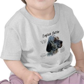 English Setter History Design T-shirt