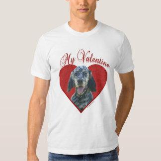 English Setter My Valentine Tee Shirt