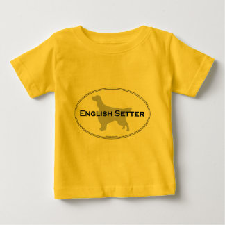 English Setter Oval Baby T-Shirt