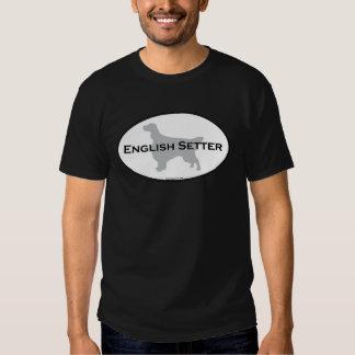 English Setter Oval T-shirt