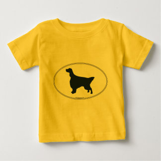 English Setter Silhouette Baby T-Shirt