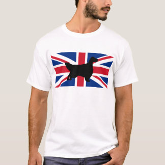 english setter silhouette flag T-Shirt