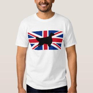 english setter silhouette flag tee shirt