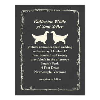 English Setter Silhouettes Wedding 11 Cm X 14 Cm Invitation Card