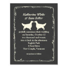English Setter Silhouettes Wedding Card