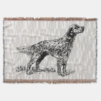 english setter throw blanket