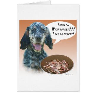 English Setter Turkey Greeting Card