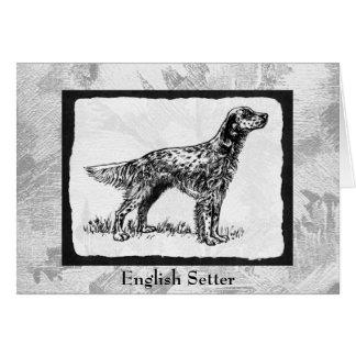 English Setter Vintage dog Art Greeting Cards