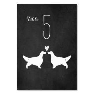 English Setters Wedding Table Card