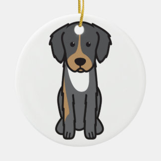 English Shepherd Dog Cartoon Christmas Ornaments