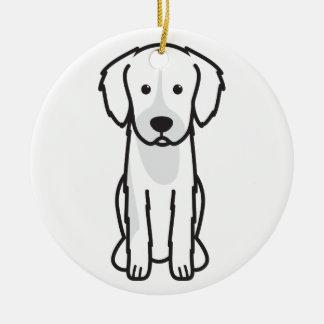 English Shepherd Dog Cartoon Ornament