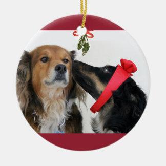 English Shepherds under the Mistletoe Ornament