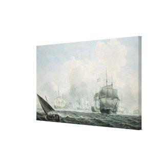 English Ships of War Canvas Print