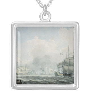 English Ships of War Silver Plated Necklace