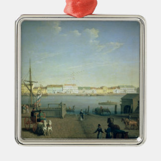 English Shore Street in St Petersburg, 1790s Christmas Ornament
