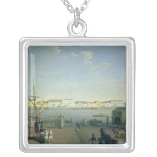 English Shore Street in St Petersburg, 1790s Silver Plated Necklace