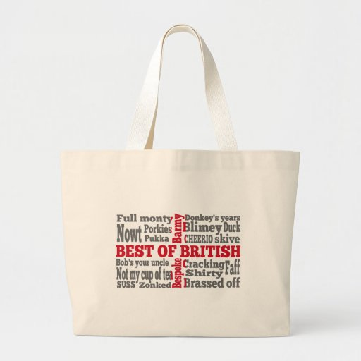 English slang on the St George's Cross flag Bags