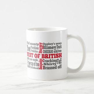 English slang on the St George's Cross flag Coffee Mug
