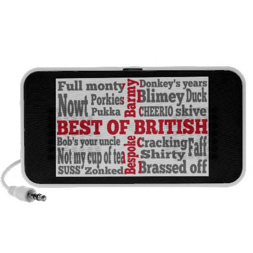 English slang on the St George's Cross flag Speakers
