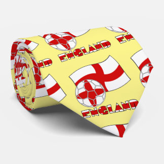 English Soccer Ball and Flag Tie
