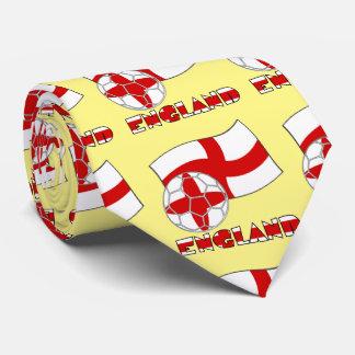 English Soccer Ball and Flag Tie