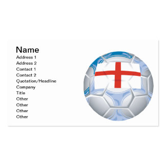English Soccer Ball Business Card