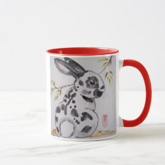English Spot Bunny Rabbit Design Mug by Tuzi
