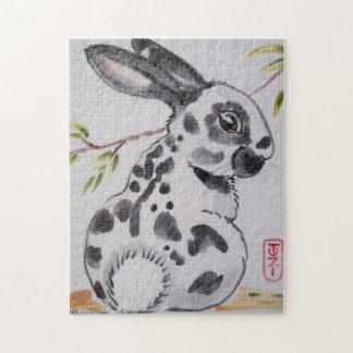 English Spot Rabbit Oriental Style Jigsaw Puzzle