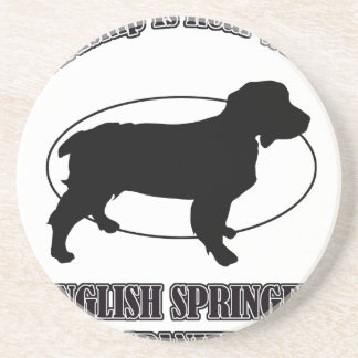 ENGLISH SPRING SPANIEL DOG DESIGNS BEVERAGE COASTERS