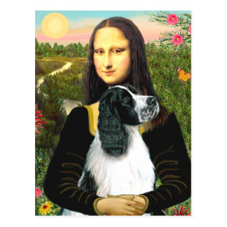 English Springer 7 - Mona Lisa Postcard