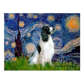 English Springer 7 - Starry Night Postcard