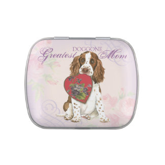 English Springer Heart Mom Jelly Belly Candy Tins