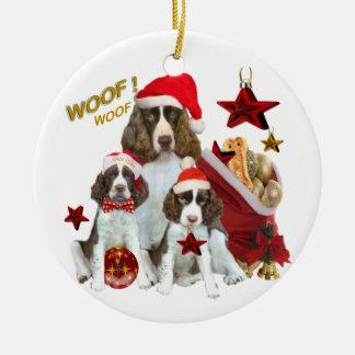 English Springer holiday decorations Round Ceramic Decoration