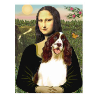 English Springer (Liv2) - Mona Lisa Postcard