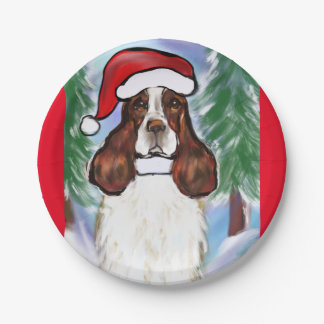ENGLISH SPRINGER SPANIEL 7 INCH PAPER PLATE