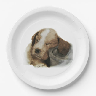 English Springer Spaniel 9 Inch Paper Plate