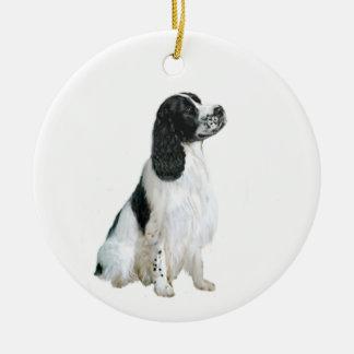 English Springer Spaniel (A) - black and white Christmas Ornament