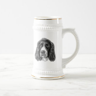 English Springer Spaniel Beer Stein