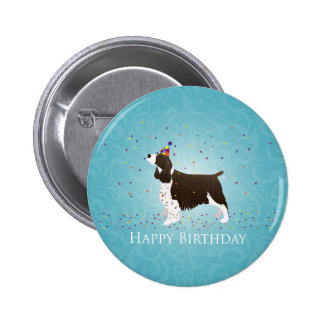 English Springer Spaniel Birthday Design 6 Cm Round Badge