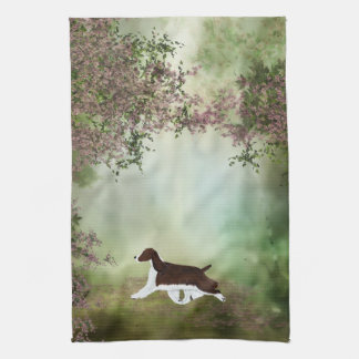English Springer Spaniel Blossom Kitchen Towel