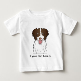 English Springer Spaniel Cartoon Personalized Baby T-Shirt