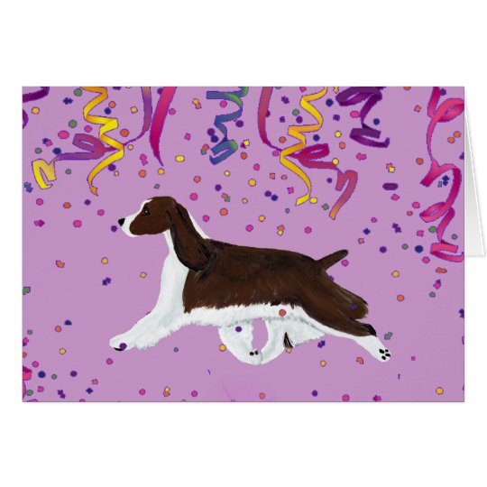 English Springer Spaniel Celebration Card