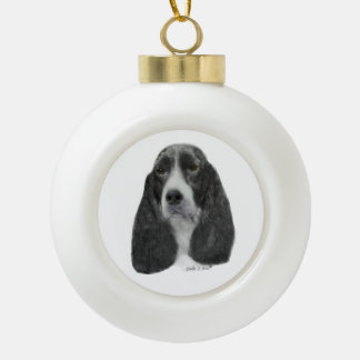 English Springer Spaniel Ceramic Ball Decoration